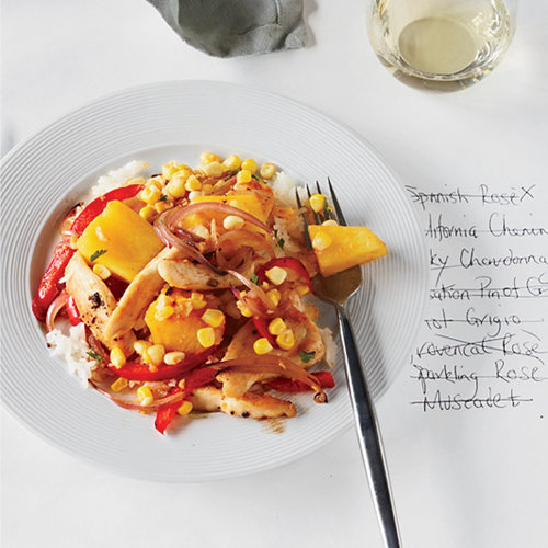 Chicken Stir-Fry with Corn, Pineapple and Red Pepper