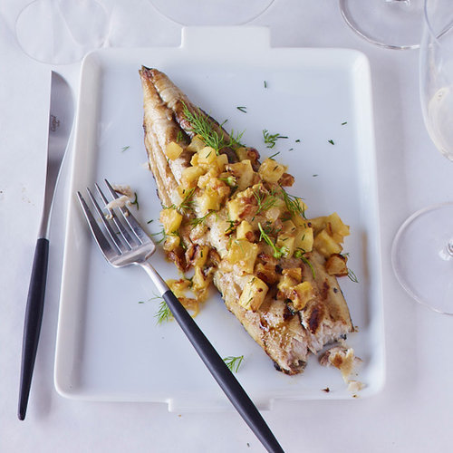 Grilled Mackerel with Apple-and-Onion Relish