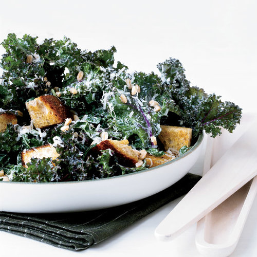 Lunch Recipe: Kale Caesar with Rye Croutons and Farro