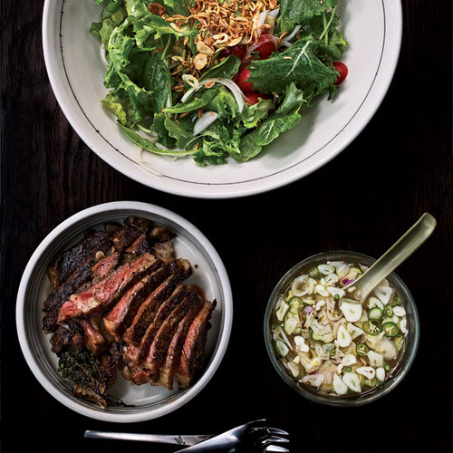 Baby Kale and Steak Salad