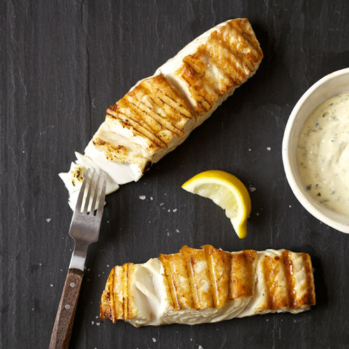 Grilled Halibut with Orange Rémoulade
