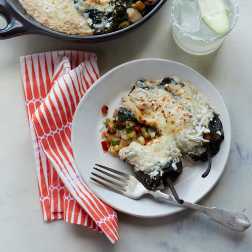 Vegetable Chiles Rellenos with Walnut Sauce