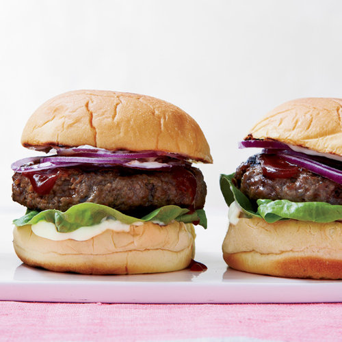 Cheesy Burgers with Soy-Spiked Ketchup