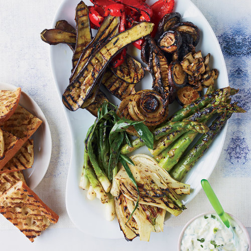 Jerk Vegetables with Yogurt-Scallion Sauce