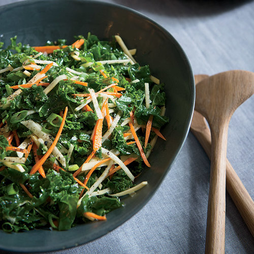 Kale Salad with Root Vegetables and Apple