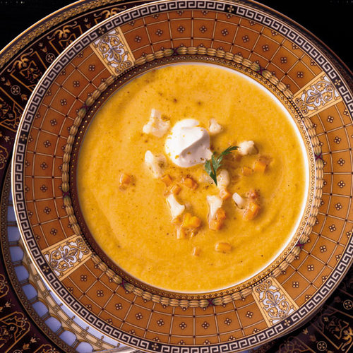 Butternut Squash Soup with Crisp Pancetta