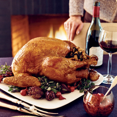 Roasted Stuffed Turkey with Giblet Gravy