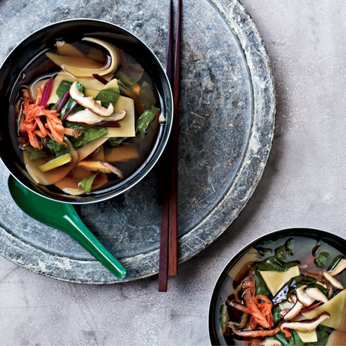 David Chang's Shiitake-and-Swiss-Chard Soup with Hand-Cut Noodles