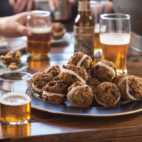 Cookie sandwiches and craft beer