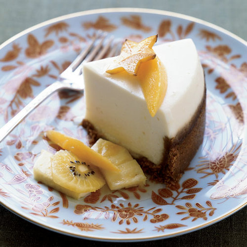 Slow-Cooker Sour  Cream Cheesecake