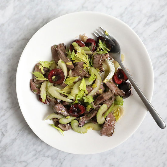 Sirloin, Celery and Cherry Salad
