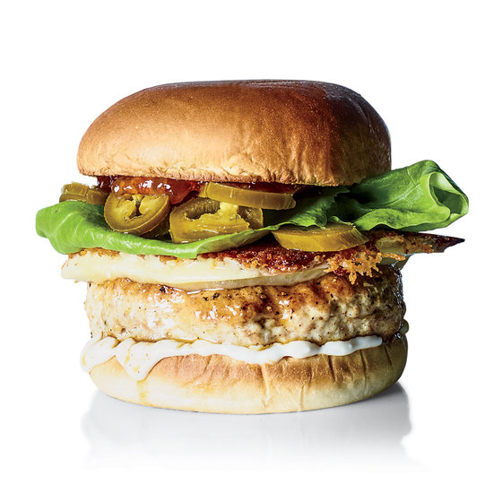 Chicken Burgers with Crispy Cheddar Cheese