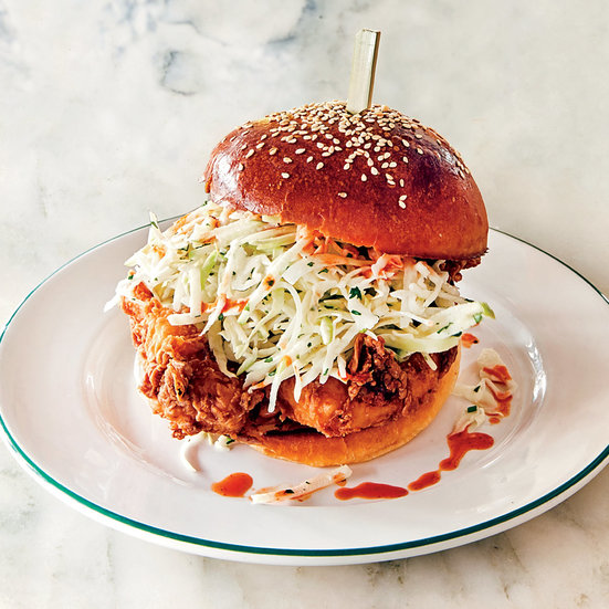 Fried Chicken Sandwiches with Hot Sauce Aioli