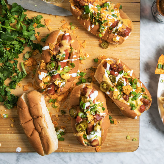 Nacho Hot Dogs