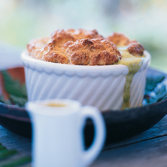 Crab and Lemon Thyme SoufflÉs