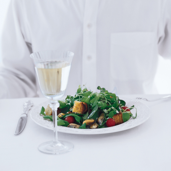 Lydon's Mussel and Herb Salad with Croutons
