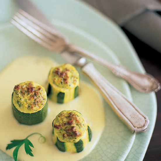 Stuffed Zucchini with Pecorino Sauce