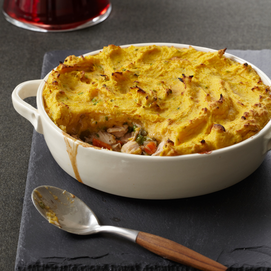 Turkey Shepherd's Pie with Two-Potato Topping