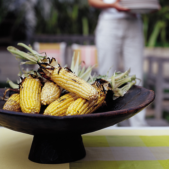 Smoky Grilled Corn with Parmesan Butter
