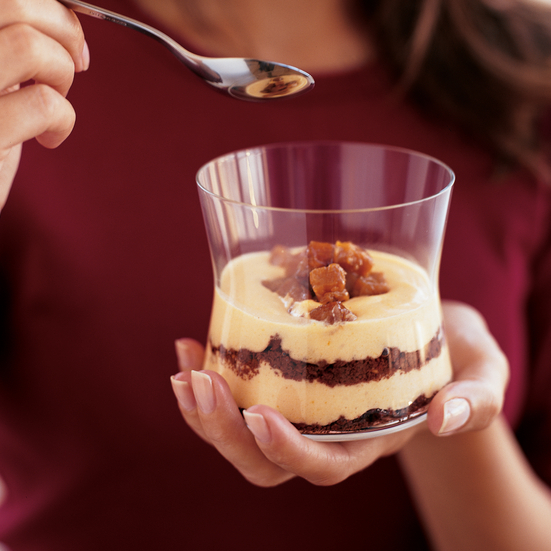 Candied Winter Squash Parfaits with Chocolate