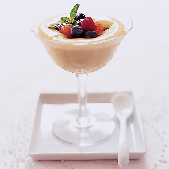 Sweet Wine Sabayon with Berries
