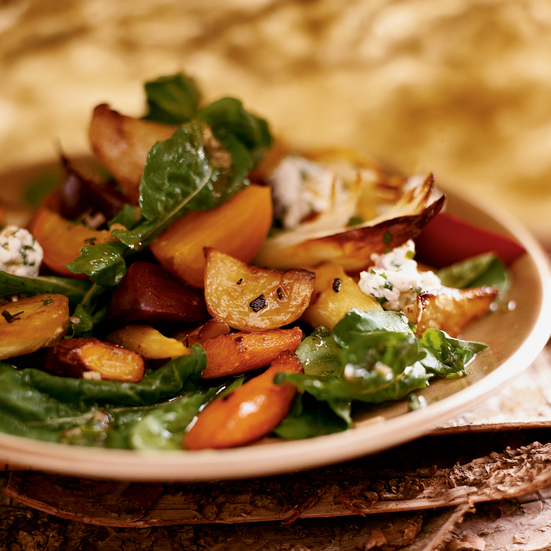 Honey-Roasted Root Vegetable Salad Recipe - Michael Romano | Food ...