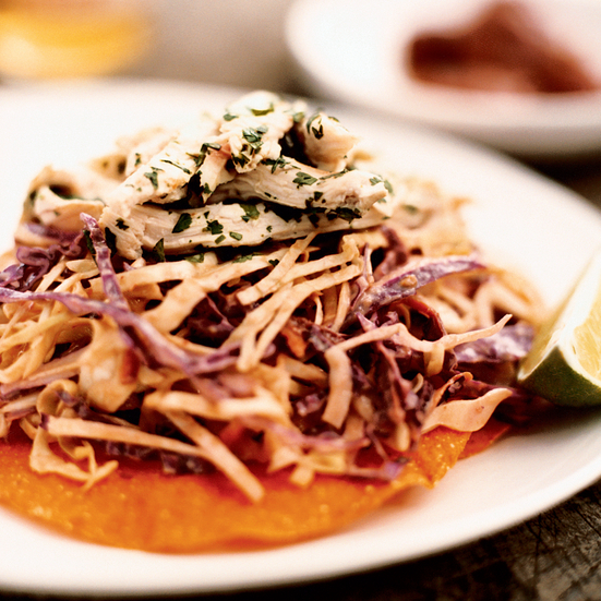 Chicken and Citrus Slaw Tostadas