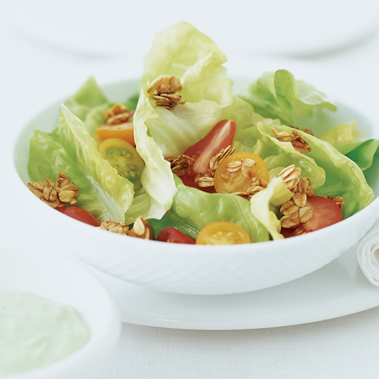 Green Salad with Garlic Crunch