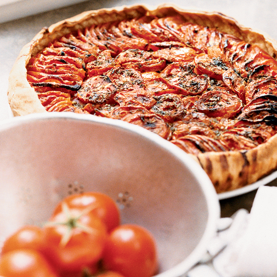 Oven-Roasted Tomato Tart
