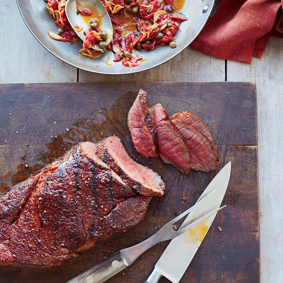 Beef Sirloin with Piquillo Peppers and Capers