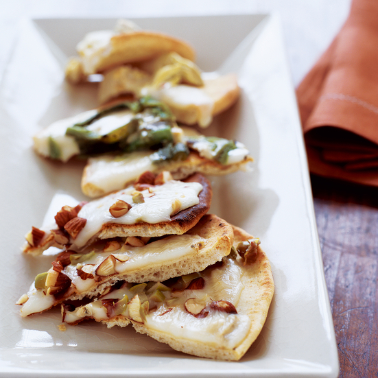 Melted Taleggio Flat Breads with Three Toppings