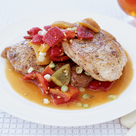 Pork Scallopine with Pepper Sauce