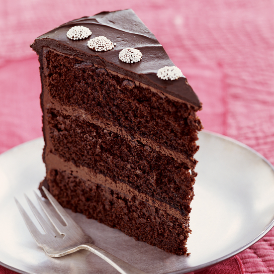 Chocolate Layer Cake with Peppermint Ganache Frosting