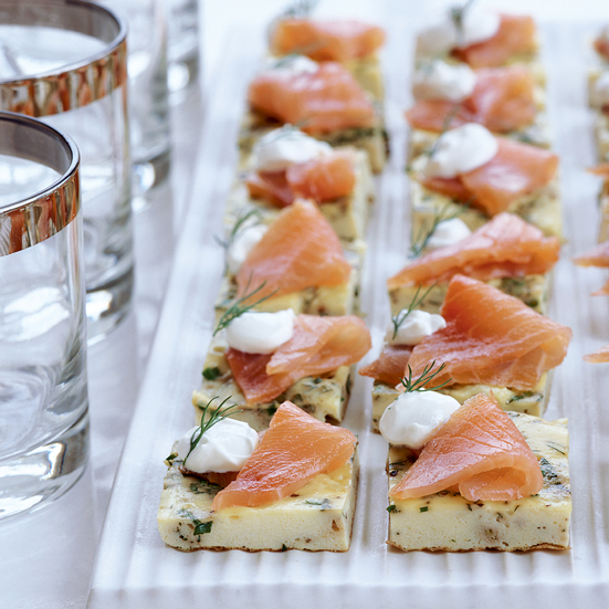 Mini Herb Frittatas with Smoked Salmon
