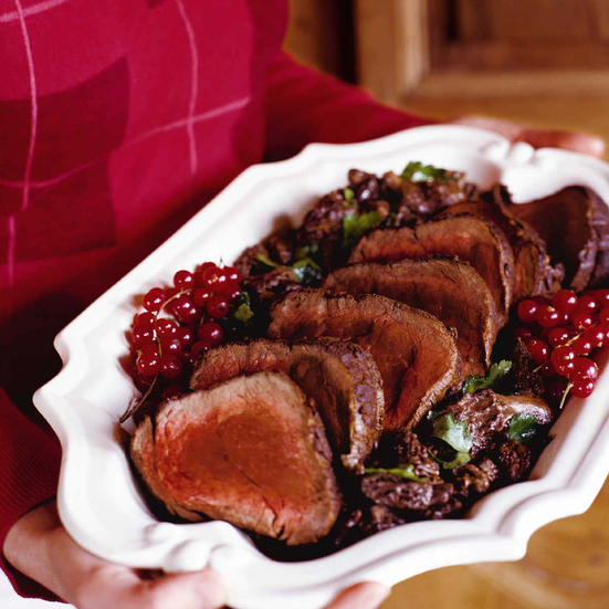 Roast Beef Tenderloin with Morel Cream Sauce