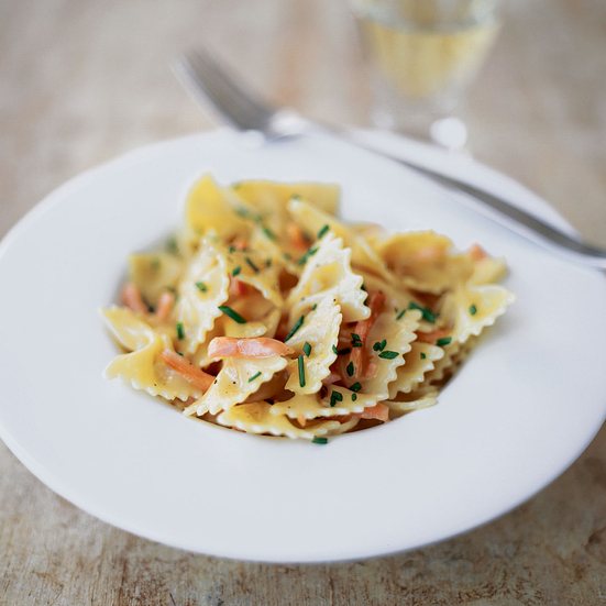 Farfalle with Creamy Smoked Salmon and Vodka Sauce