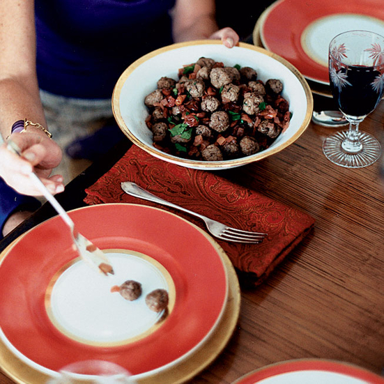 Lamb Meatballs in Sour-Cherry Sauce