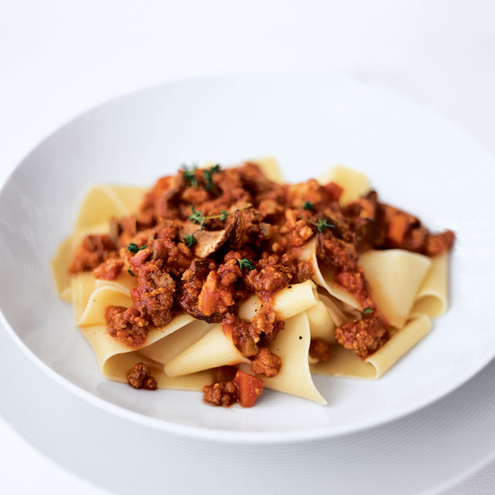 Pappardelle with Red Wine and Meat Ragù