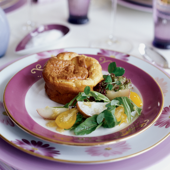 Smoked Salmon Soufflé with Gingered Salad