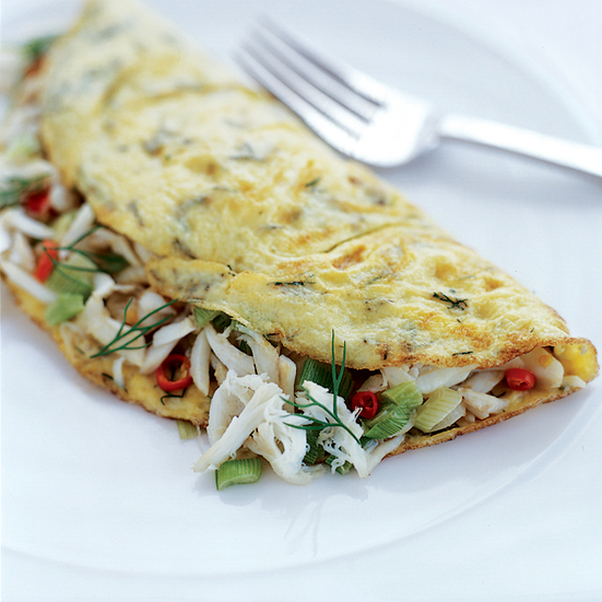 Deviled Crab Omelets Recipe - Charmaine Solomon | Food & Wine