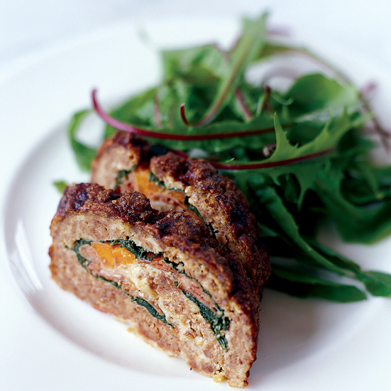 Meatloaf Stuffed with Prosciutto and Spinach