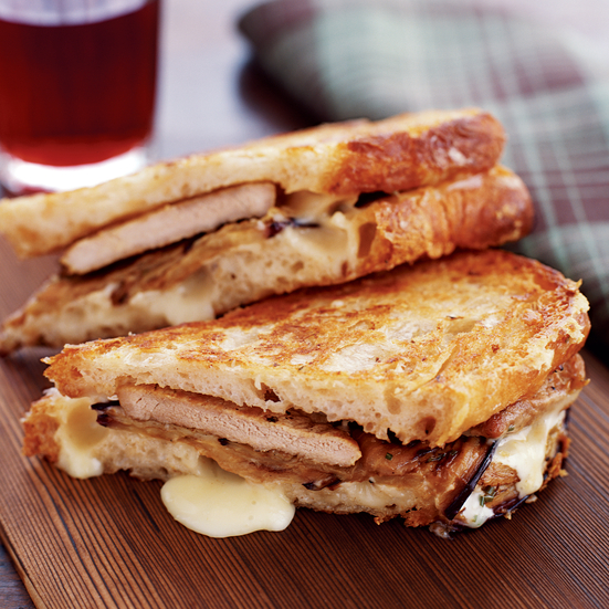 Seared Pork and Pickled Eggplant Panini