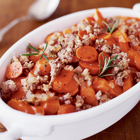 Carrots with Sausage and Rosemary