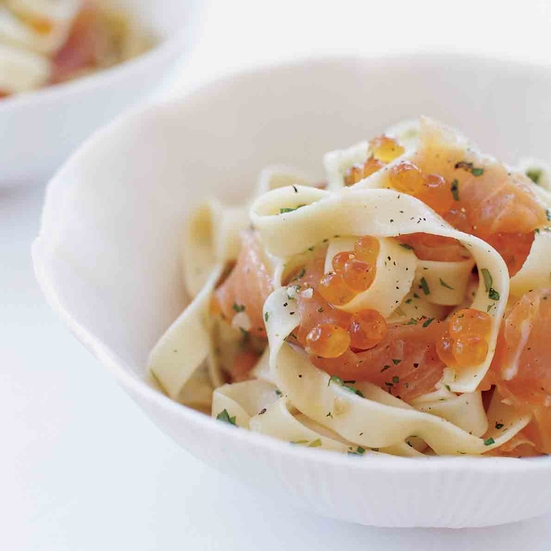Pasta with Salmon Caviar
