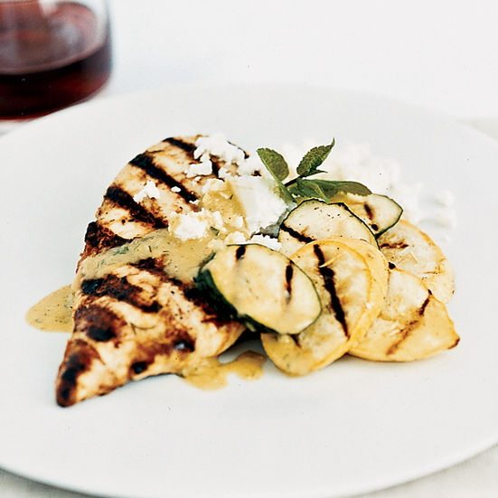 Chicken with Zucchini Salad