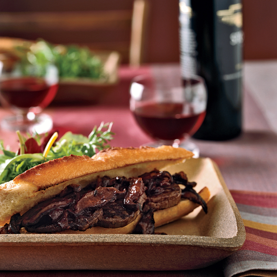 Beef Tenderloin Sandwiches with Norton-Shiitake Sauce