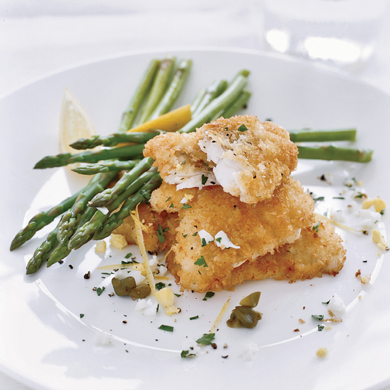 Crispy Monkfish with Capers