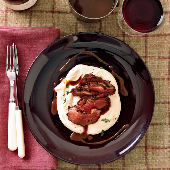 Fennel-Scented Duck Breasts with Pinot Noir Sauce