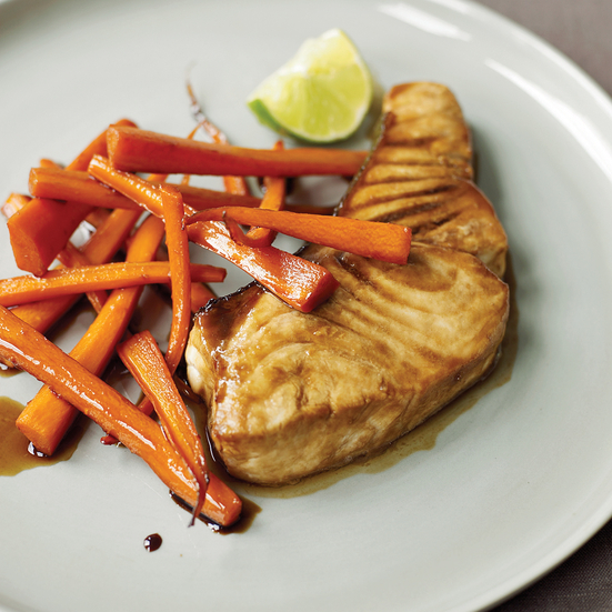 Guinness-Glazed Halibut