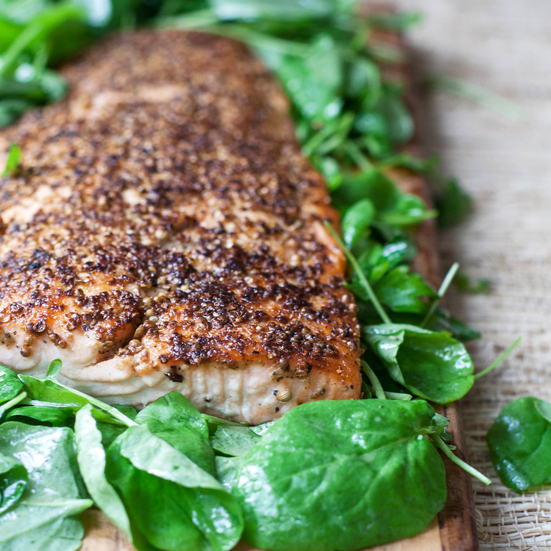 Mustard-and-Coriander-Crusted Salmon